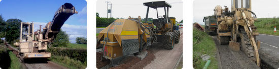 Trencher, top cutter, rocksaw, plow